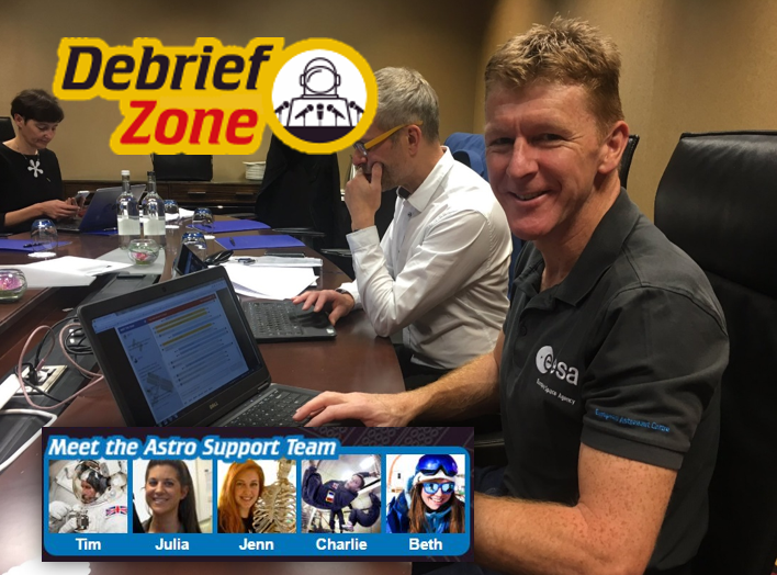 Tim and debrief Zone logo